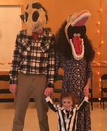 Barbara and Adam Maitland with Beetlejuice Homemade Costume