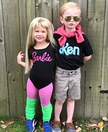 Barbie and Ken Homemade Costume