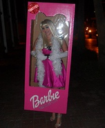 Homemade Barbie in the Box Costume