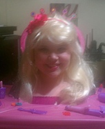Homemade Barbie Styling Head Costume