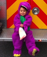 Barney is a Dinosaur Costume