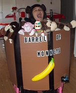 Barrel of Monkeys Homemade Costume