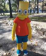 Bart Simpson Homemade Costume