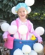 Homemade Bathtub and Bubbles Costume