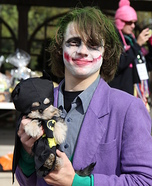 Costume ideas for pets and their owners: Batman and Joker Costume