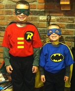 Homemade Batman and Robin Costumes