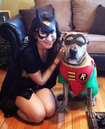 Costume ideas for pets and their owners: Batman and Robin Costume