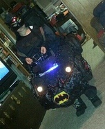 Batman in the Bat Mobile Homemade Costume