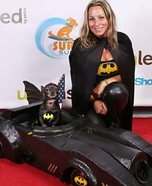 Costume ideas for pets and their owners: Batman in the Batmobile Dog Costume