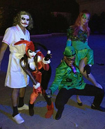 The Joker, Harley Quinn, Posion Ivy, and The Riddler Costumes