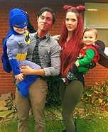 Batman vs Villains Family Homemade Costume