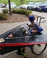 Batman with his Batplane Homemade Costume