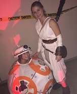 BB-8 and Rey Homemade Costume