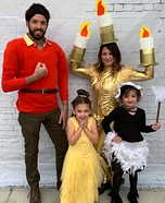 Beauty and the Beast Family Homemade Costume