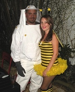 Bee and Beekeeper Homemade Costume