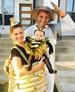 Bee, Beehive and Beekeeper Homemade Costume
