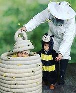 Beehive, Bee and Bee Keeper Homemade Costume