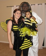 Beekeeper and Bees Homemade Costume