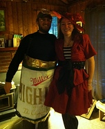 Beer Can and Miller Witch Homemade Costume