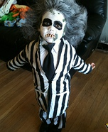 Creative homemade costumes for babies - Beetlejuice Halloween Costume
