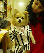 Costume ideas for pets and their owners: Beetlejuice and Lydia