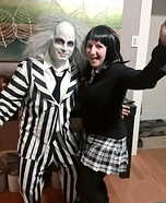 Beetlejuice and Lydia Homemade Costume