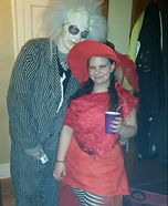 Beetlejuice and Lydia Adult Costumes