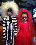 Beetlejuice and Lydia Deetz Kids Costume