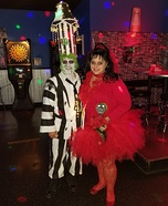 Beetlejuice and Lydia Deetz Homemade Costume