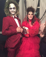 Beetlejuice and Lydia Deetz Wedding Homemade Costume