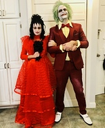 Beetlejuice and Lydia's Wedding Homemade Costume