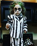 Beetlejuice Baby Girl Homemade Costume