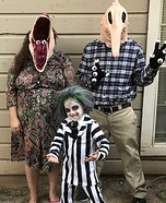 Beetlejuice Family Homemade Costume