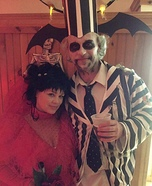 Beetlejuice & Lydia Homemade Costume