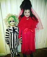 Kids Beetlejuice & Lydia Costumes