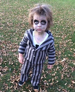 Beetlejuice Toddler Homemade Costume