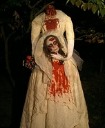 Homemade Beheaded Bride Costume