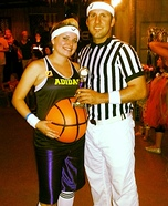 Couples Halloween costume idea: Belly Baller & Ref Couple Costume
