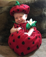 Berry Sweet Strawbaby Homemade Costume