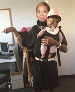 Beyonce with Baby Blue Ivy Costume
