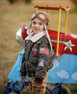 Bi-Plane Pilot Homemade Costume