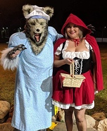 Big Bad Wolf and Lil Red Riding Hood Homemade Costume