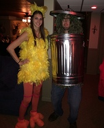 Big Bird and Oscar the Grouch Homemade Costume