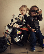Biker and Babe Homemade Costume