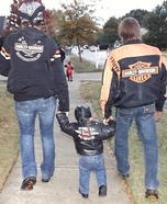 Parent and baby costume ideas - Biker Baby and Family Costume