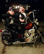 Biker Twins Homemade Costume