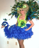 Peacock and Flamingo DIY Costumes