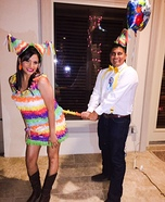 Birthday Boy and Pinata Couple's Homemade Costume