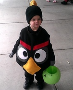 Creative homemade costumes for babies - Black Angry Bird Costume