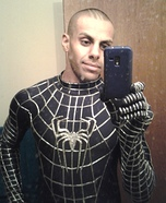 Homemade Black Spiderman Costume